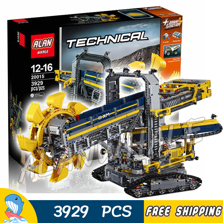 3929pcs 2in1 Techinic Bucket Wheel Excavator Mobile Aggregate Processing Plant 20015 Model Building Blocks Compatible With lego 760pcs techinic 2in1 new series