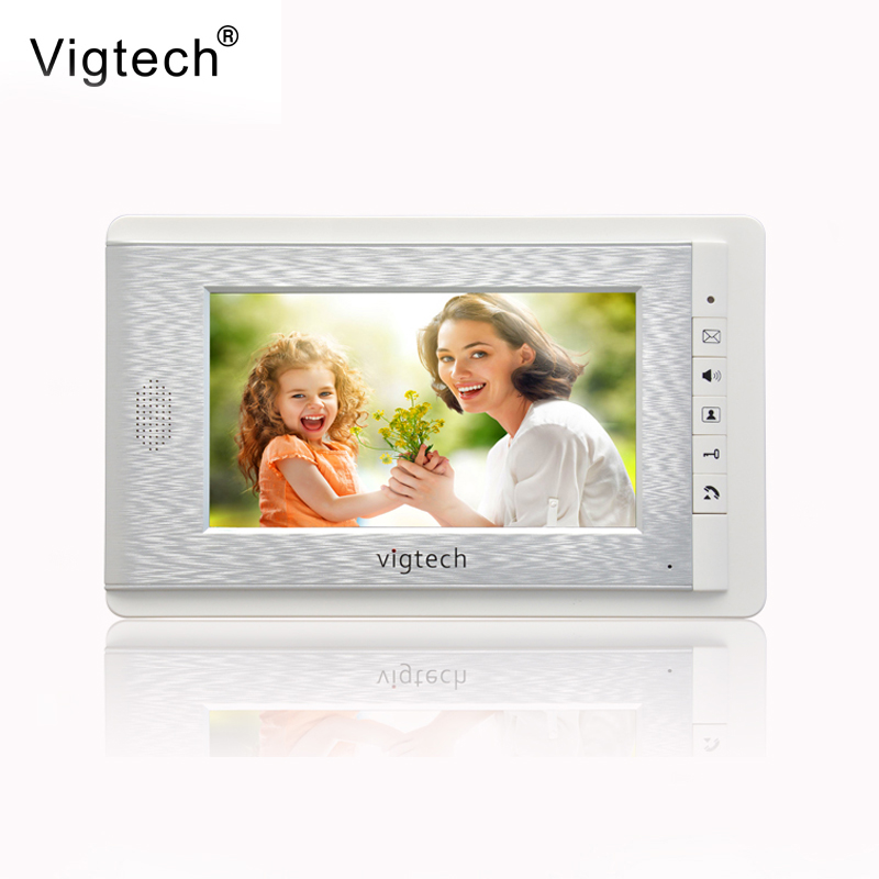 Vigtech 7 Inch Video Door Phone Doorbell Video Door Phone Intercom System 714 Indoor + Power Adapter Free Shipping