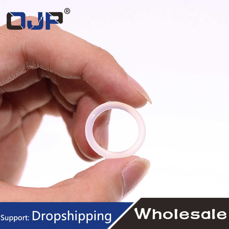 5PCS/lot White Silicon O-ring Silicone/VMQ 1mm Thickness OD22/23/24/25/26/27/28/30/34/40mm O Ring Seal Rubber Gasket Ring
