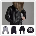 2016 autumn winter new nununu kids harem pants skull t shirts jackets coat baby boy clothes vestidos children brand clothes