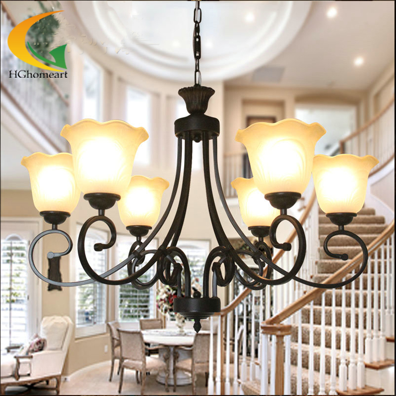 где купить Jane European-style living room chandelier bedroom lamp minimalist restaurant lighting warm pastoral retro chandelier по лучшей цене