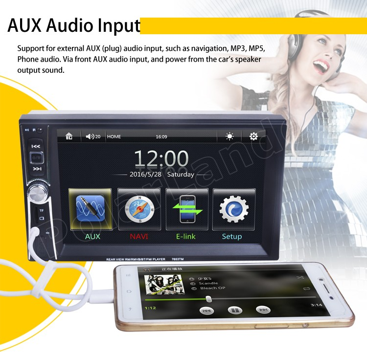 Image 5 - MP5 Player Bluetooth overseas warehouse  fast shipping  USB/AUX/SD 2 Din Mirror Link Touch Screen Car Radio 6 inchs-in Car Radios from Automobiles & Motorcycles