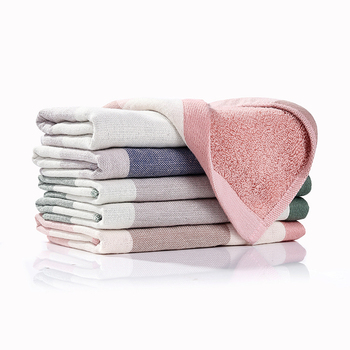 3 uds 100% algodón absorbente toallas de limpieza para cocina rayas cuadros vajilla plato Toalla de microfibra de hogar paño de lavado 1 paquete