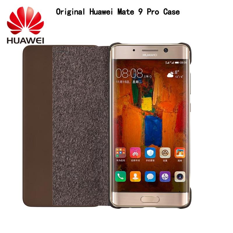 """Цена за Huawei Mate 9 Pro Case 100% оригинальные умного окна флип кожаный чехол для Huawei Mate 9 Pro (5.5 """"дюйма)"""