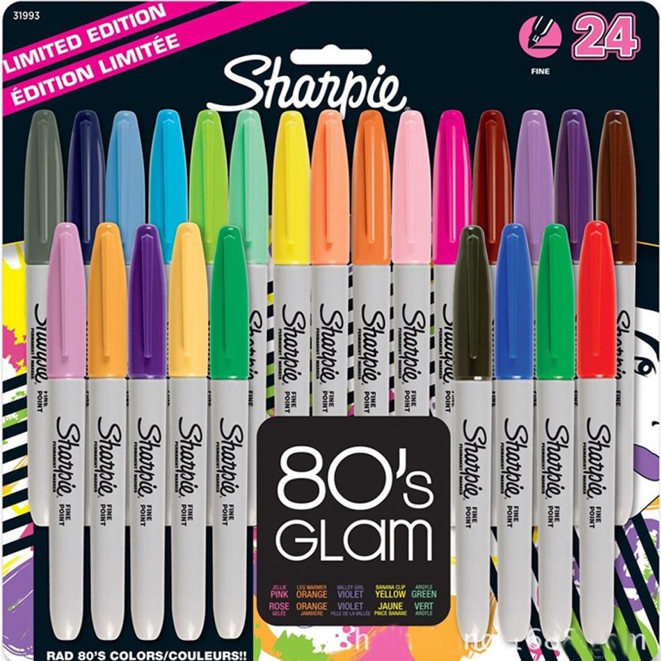 12/24 Colors 1mm Colored Pen American Sanford Sharpie Permanent Markers Sharpie Fine Point Permanent Marker parker 88 maroon lacquer gt fine point fountain pen