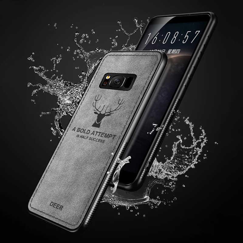 ケースのための samsung s10 プラス s8 s9 a30 a50 m30 注 8 9 s10E j4 j6 プラス j8 a5 a6 a8 a7 a9 2018 j3 j5 j7 プロファブリック電話カバー