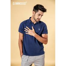 SIMWOOD 2019 summer autumn new polo shirts men classical fashion Embroidery logo 100% cotton tops high quality clothes 190294