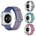 Deporte correa de nylon reloj banda para apple watch 42mm 38mm correa de reloj pulsera de la muñeca de nylon tejido de iwatch 2/1/edición accesorios