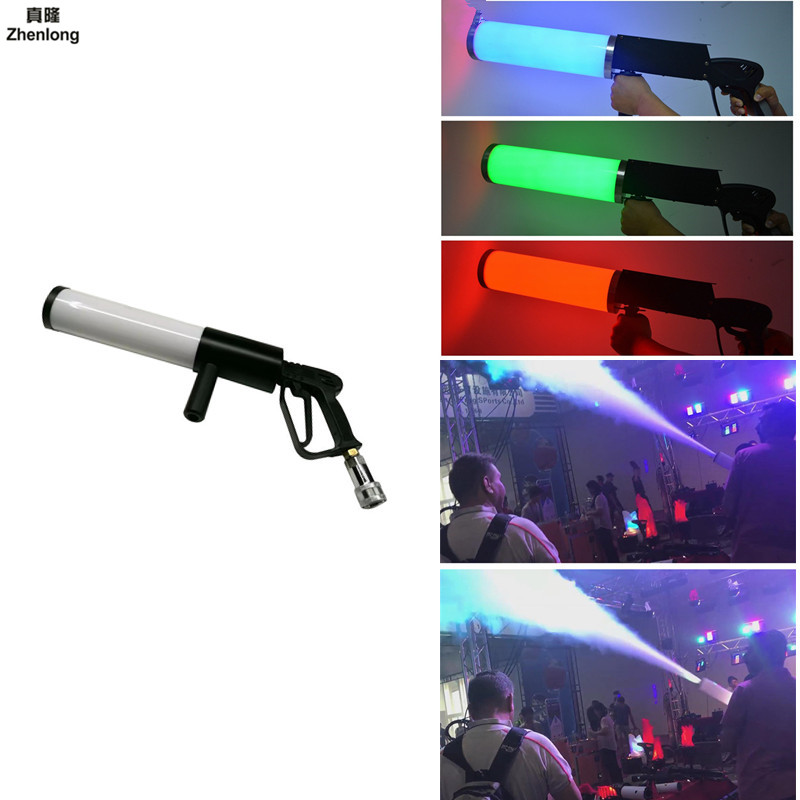 Pistola Co2 Arma Mitraillette Bar Co2 Gun Stage Light Gun Co2 Led Rgb for Wedding Disco Dj Jet Gun Pistol Mini Led Air Softgun