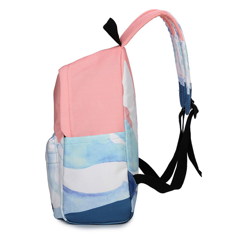 Moon Wood Landscape Printing Backpack Canvas School Travel Shoulder Bags Girls High Quality Candy Color Leisure Laptop Back Pack #3