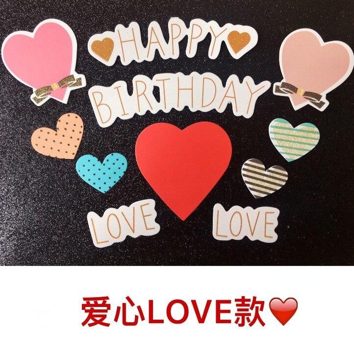 5sets/lot Free Shipping Happy Birthday Love Theme Birthday