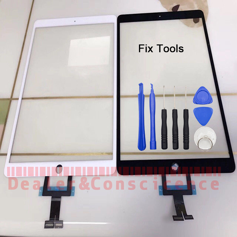 1Pcs (Tested) For Apple iPad Pro 10.5 (2017 Version) A1701 A1709 Digitizer Touch Screen Outer Glass Panel Replacement+Tools 1pcs for ipad pro 12 9 2015 version a1584 a1652 touch screen digitizer front outer panel glass tools