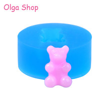 55338527412b KYL160 16.7mm Kawaii Bear Candy Silicone Mold - Cake Decorating  Miniaturesweet Chocolate Fondant Resin Pendant Jewelry Charm