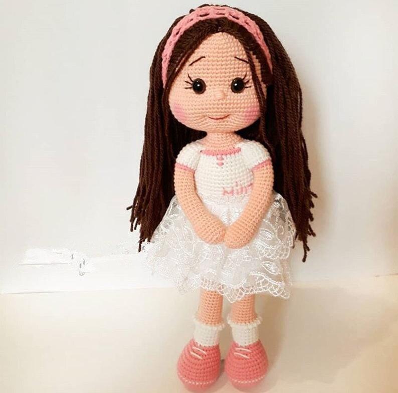 Jouets crochet amigurumi main hochets poupée fille modèle nombre DXR001 - 2