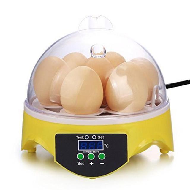 Mini 7 Egg Incubator Poultry Incubator Brooder Digital Temperature Farm Hatchery Egg Incubator Chicken Duck Bird Pigeon Hatcher 2
