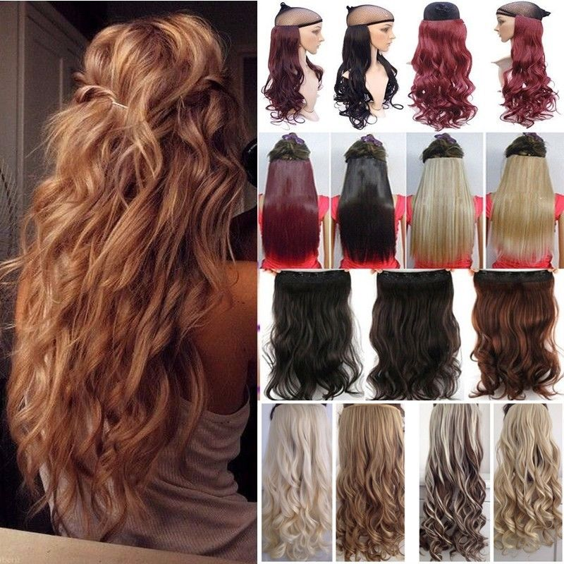 Long 50 Colors 17 27 Inches Curlywavy Hair Piece 34 Full Head