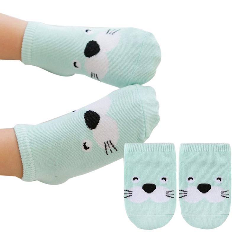 Baby Infant Socks Newborn Cotton Boys Girls Cute Cartoon Anti-slip Childrens Animal Socks kindersokken effen #9129