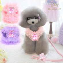 Cute pink breathable small Pet dog puppy Harness vest and Leash Animal chihuahua pet Leads For Dogs luxury Cat dog Collars