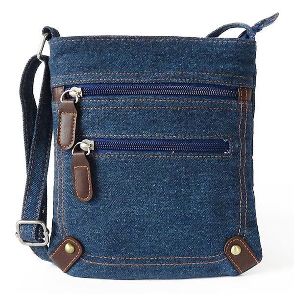 women denim messenger bags women mini small shoulder bag vintage rivet satchels ladies crossbody sling bag bags