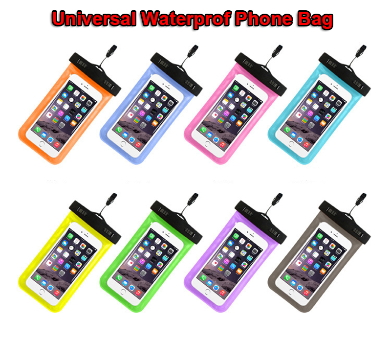 2 piece 5.5 inch Mobile Phone Pouch Waterproof Bag Underwater Dry Case Cover For Canoe Kayak Rafting Camp Swiming Drifting Pouch
