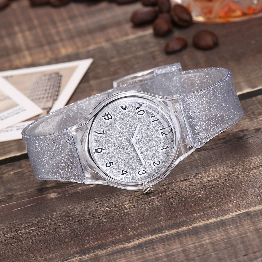 Watches Women Fashion Silicone Transparent Plastic women watches cute ladies dress Watch Gift Hot sale relojes mujer