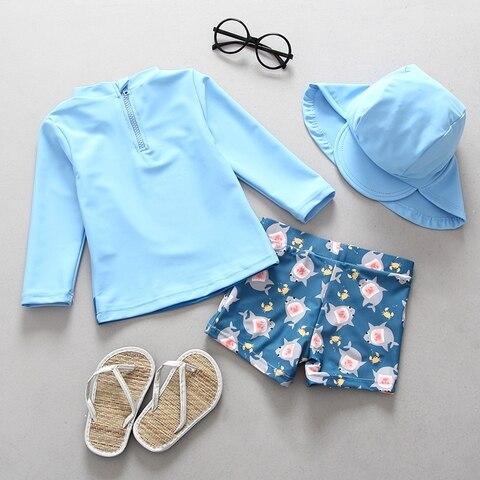 upf50 roupa de banho criancas menino