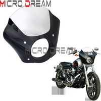 Clear Windshield 35mm 41mm Fork Bracket Trigger Lock Mount Motorcycle Gauntlet Headlight Fairing For Harley Sportster XL