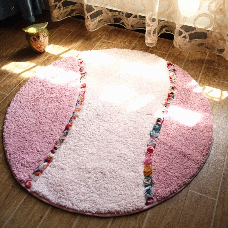 Free Shipping 1 pcs Embroidered printing Non-slip mats Big Door Bathroom Carpet Bedroom Door Soft High Quality Floor Mat XIER004