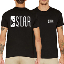 funny STAR labs print hip-hop fitness t-shirts 2017 summer unisex men superman series brand clothing kpop short sleeve camisetas