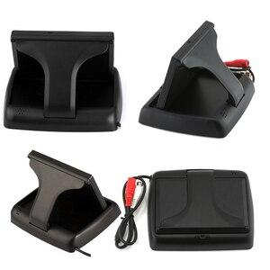 Image 2 - Hikity monitor automotivo, 4.3 polegadas, dobrável, tft, display lcd, câmera reversa, sistema de estacionamento, para monitores de retrovisor/câmera