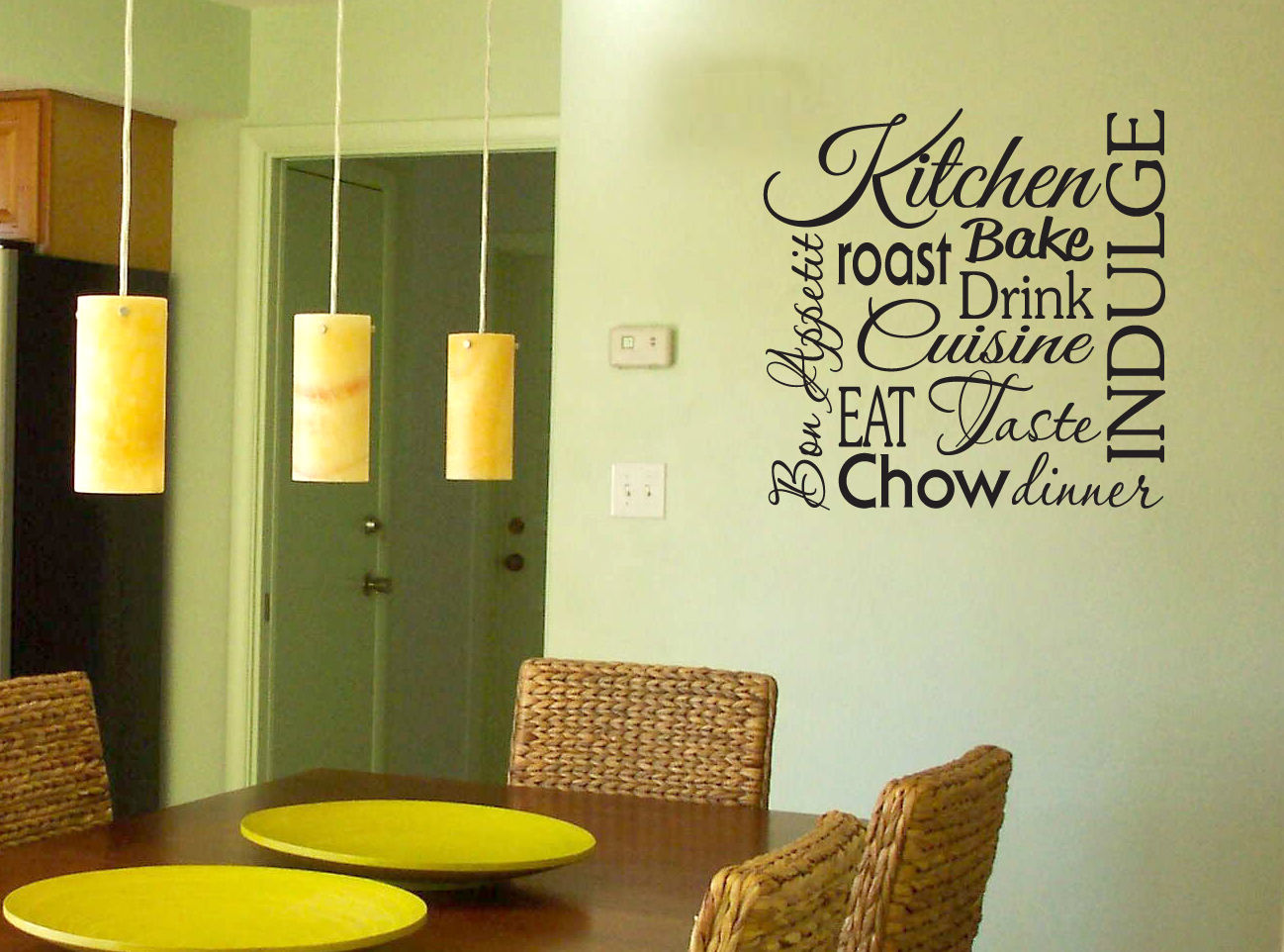 Kitchen Wall Letters. Perfect Eatdrink U Be Merry Vinyl Kitchen Wall ...