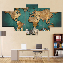Art design map in Paris 5 Panel/piece HD Print modern wall posters Canvas Art Painting For home living room decoration naturally beautiful places in india landscape 5 panel hd print wall posters canvas art painting for home living room decoration