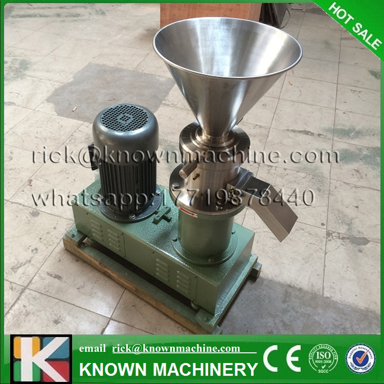 New type superfine grinder colloid mill for grinding chili sauce, peanut butter, sesame paste with free shipping by sea food pharmaceutical industry stainless steel seeds peanut butter sesame paste chilli sauce colloid milling machine