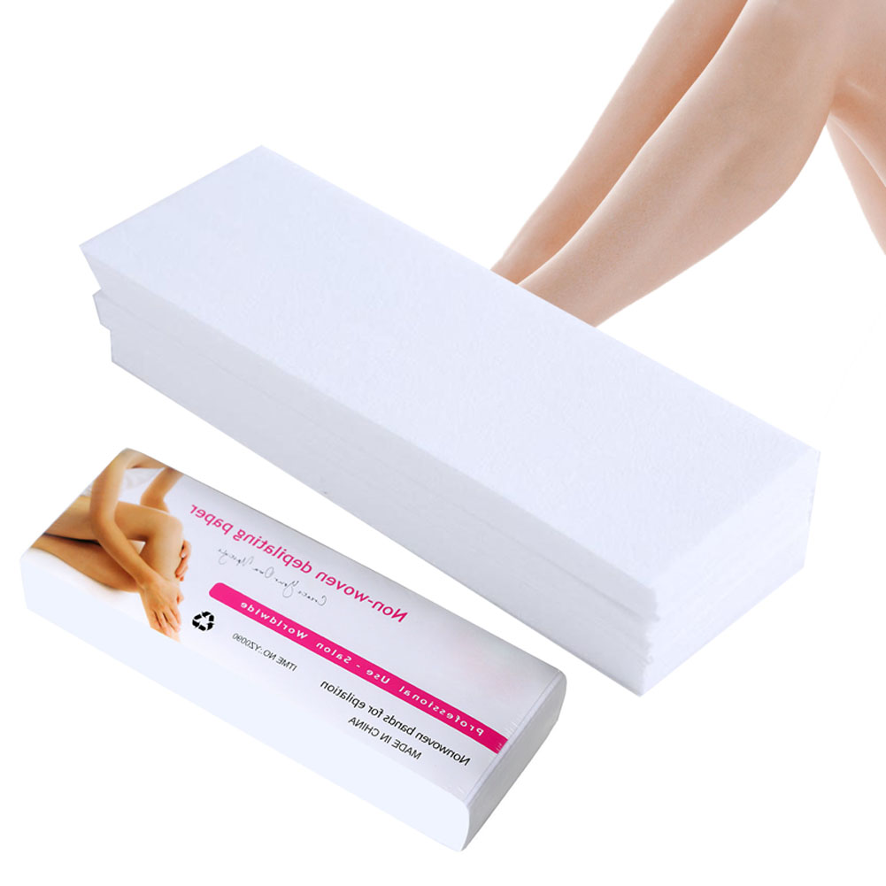80pcs/lot Wax Strips For Hair Removal Depilatory Nonwoven Epilator Wax Strip Paper Roll Waxing Health Beauty Smooth Legs