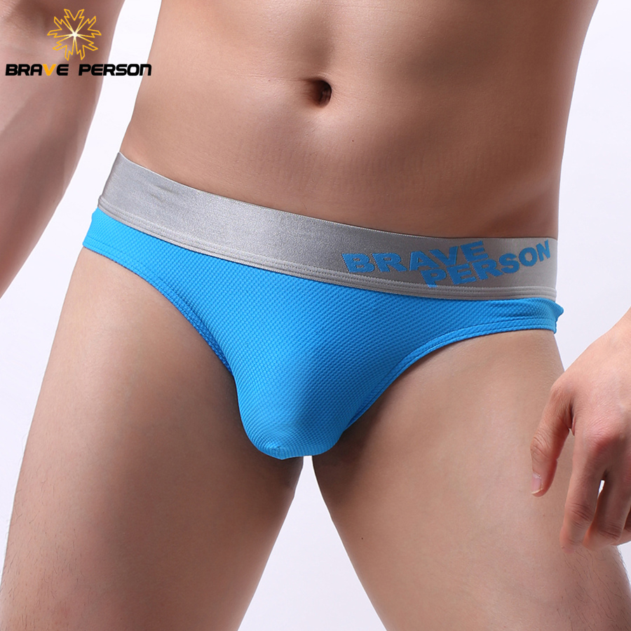 BRAVE PERSON Men's Sexy Briefs Fashion Personal Underwear Men Briefs Gay Underwear Colorful 2019 New Arrival