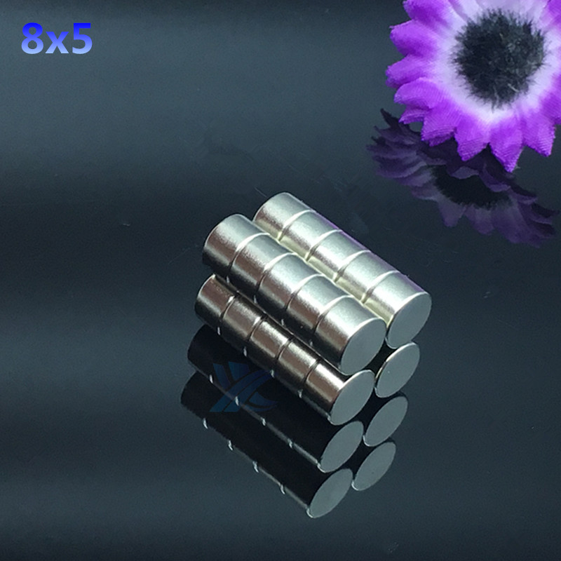 20pcs 8x5mm Strong Round Cylinder Magnets 8x5 mm Rare Earth Neodymium N52 Permanent Magnet Powerful Magnet Round Magnet 8*5mm 20pcs powerful neodymium disc magnets n35 grade diy craft reborn permanent magnet round magnet strong magnet 9mm x 3mm