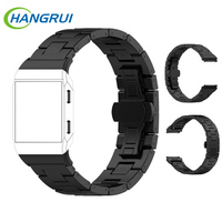 Hangui Stainless Steel Watch Band For Fitbit Ionic Replacement Metal Strap Adjustable Watchband Wearable Accessories For