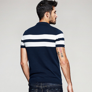 Image 4 - KUEGOU 2020 קיץ סרוג 100% כותנה פסים פולו חולצת גברים קצר שרוול Slim Fit Poloshirt לזכר ללבוש מותג בגדים 16972