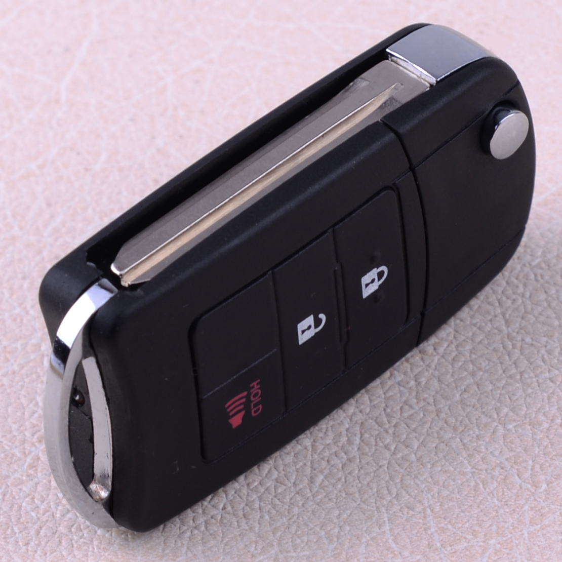 DWCX 3 Buttons Remodel Remote Flip Folding <font><b>Key</b></font> <font><b>Case</b></font> Fob Shell Cover HYQ12BDM Fit For <font><b>Toyota</b></font> <font><b>RAV4</b></font> <font><b>2014</b></font> 2015 image