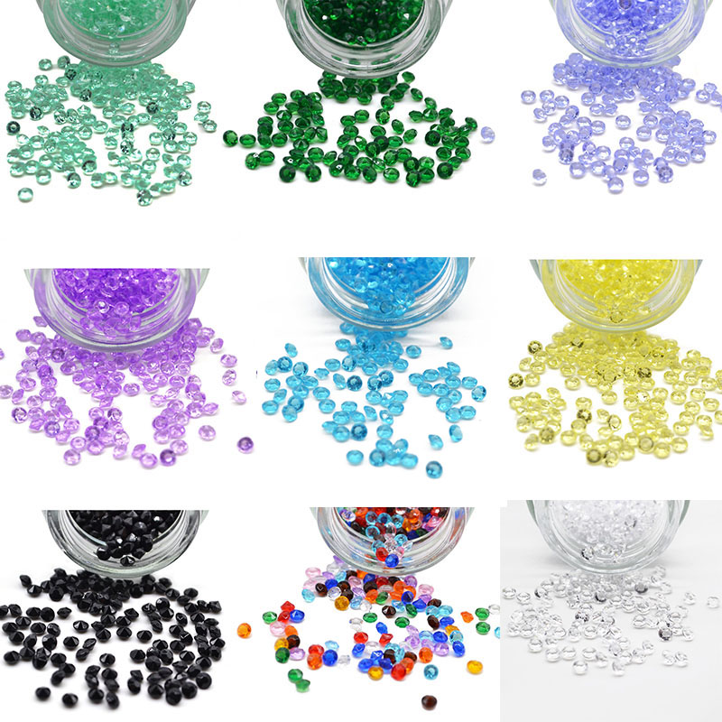 1000p Diamond Confetti Vase Filler Party Decoration For Weddings Bridal Shower 4.5mm Acrylic Crystals Filler Beads Table Scatter