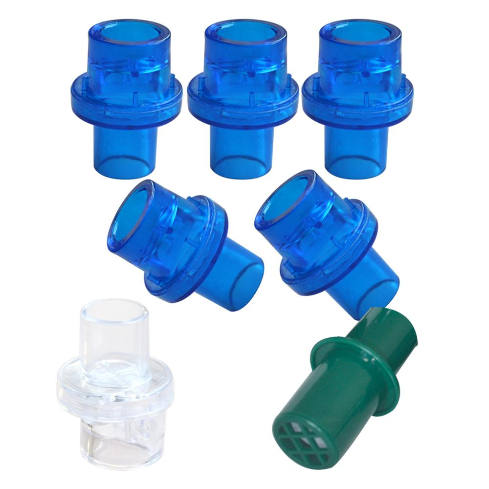 100Pcs Pack CPR Training Mask Valve With One Way Valve w Filter First Aid Rescue Practice