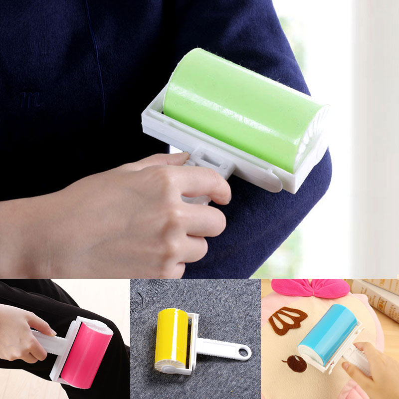 Cleaning Sticky Hair Roller Reusable Wool Dust Catcher Washable Carpet Dust Drum Lint Cloth Hair Remover Brushes @LS