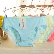 Encaje bragas mujeres ropa interior del cordón Color sólido de alta calidad  del algodón Mediados de c1419dbfd1bc