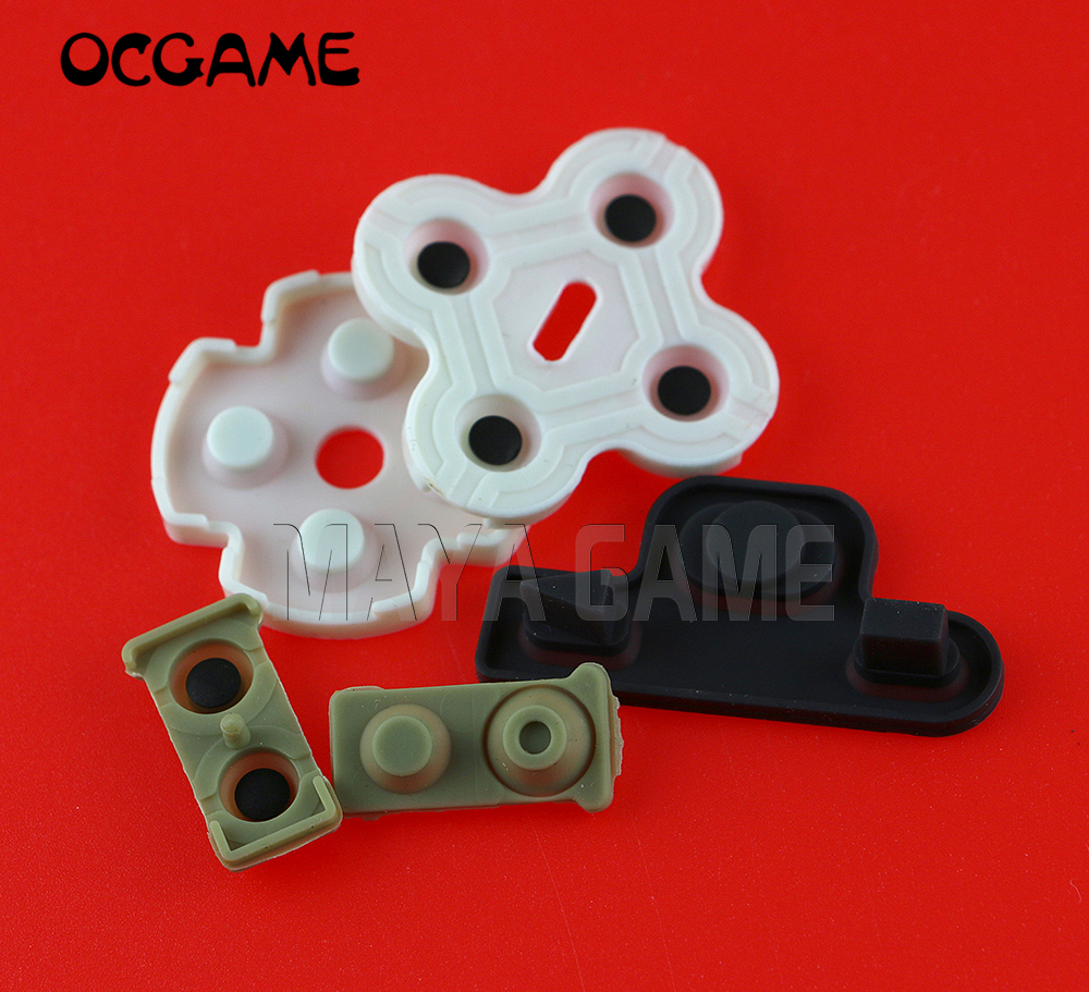 300sets/lot Conductive silicone rubber controller rubber for playstation 3 ps3 wireless controller OCGAME-in Replacement Parts & Accessories from Consumer Electronics    1