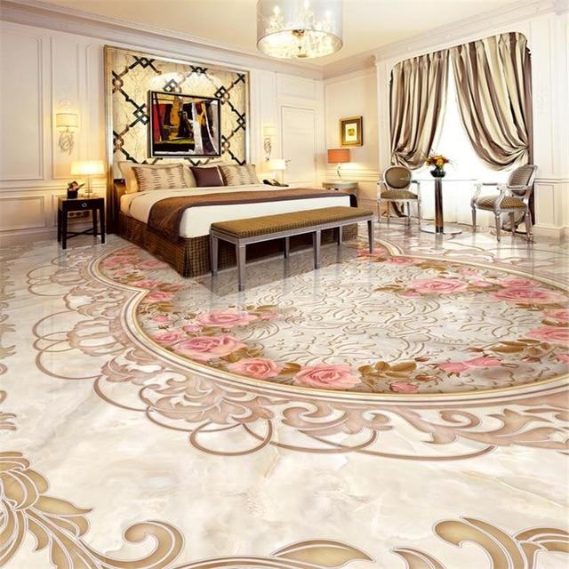 beibehang beibehang 3d floor tiles customized art wallpaper Parquet ...