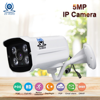 ZSVEDIO IP Cameras NVR 5MP IP Camera Alarm System H 265 POE CCTV Camera IP Cameras