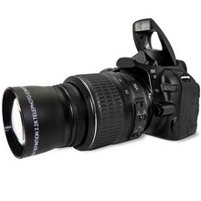 58 мм 2.0X Профессиональный телеобъектив для Canon 5D/6D/60D/350D/400D/450D/500D/1000D/550D/600D/1100D 18-55 мм объектив