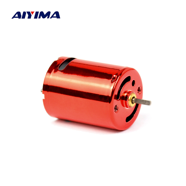Aiyima 370 Micro Water Bomb Motor 7.4V 11.1V High Speed Mini Red 370 DC Motors Double Ball Bearings Can Be Positively Reversed