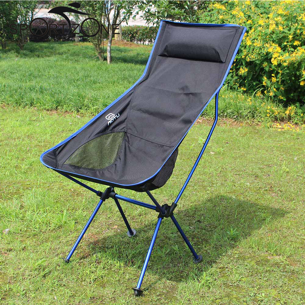 outdoor portable builtin pillow folding camping stool chair seat for fishing festival picnic bbq