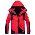 Новые Толстые Теплые Зимние Куртки Мужчины женщины Пальто Вскользь Съемный капот Мужской ветрозащитный водонепроницаемый куртка мужчины 2 в 1 марки одежда
